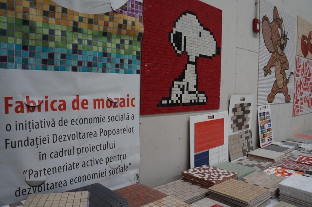 Mozaic, mostre din fabrica