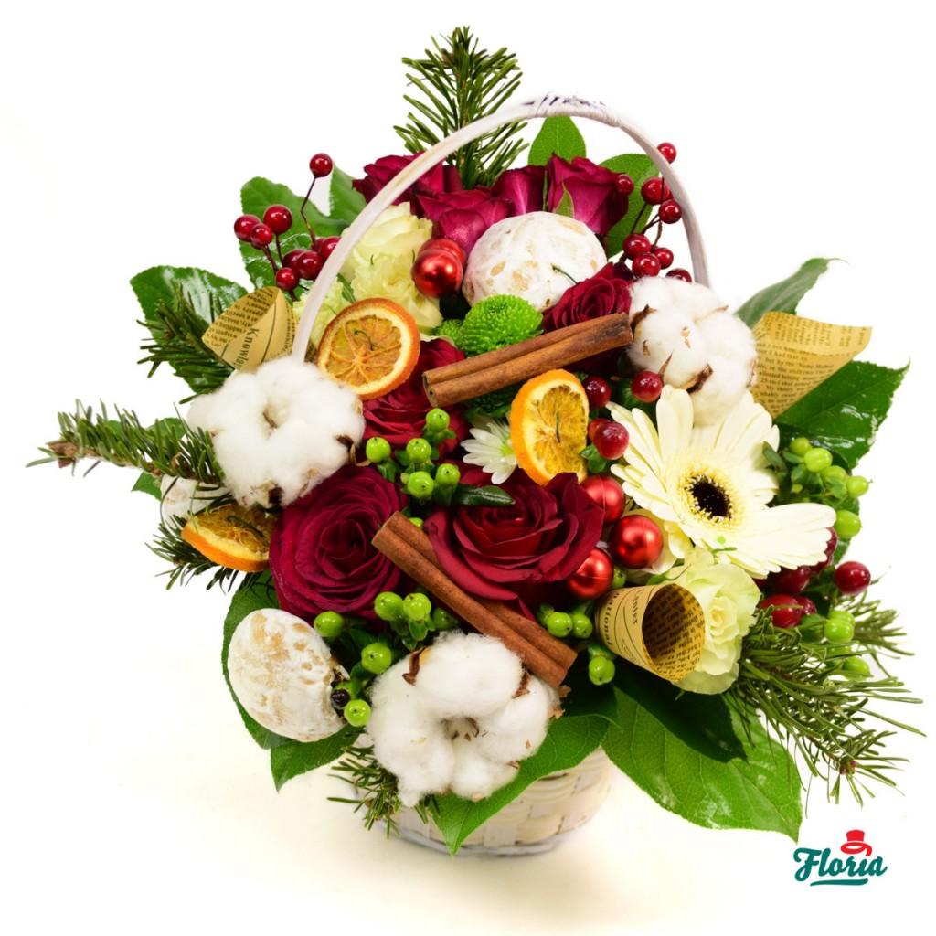 aranjament flori de Craciun